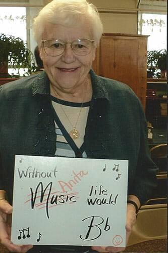 Anita Roux celebrates 50 years of organist of Faith Lutheran Church in Calumet, MI.