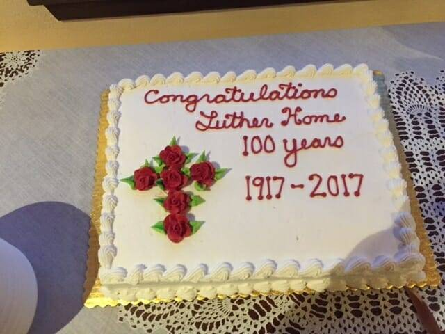 Luther Home, part of Northland Lutheran Retirement Community, Marinette, WI, celebrates 100 Years of Ministry – Jan. 27, 2017